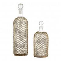 Chainmail glass decanters