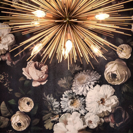 Karin Bohn let us all know how amazing the Zanadoo Chandelier looks against a floral backdrop!